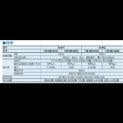 SJ-410粗糙度测量仪规格2