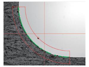 三丰影像仪测量工件3