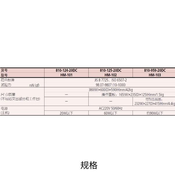三丰HM-100 810系列 — 显微维氏硬度试验机