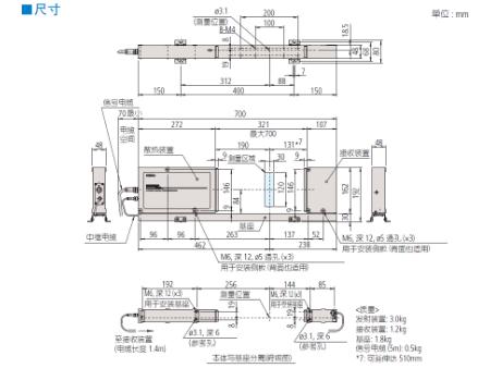 三丰激光测径仪LSM-512S 544 系列 — 激光测径仪(测量装置)